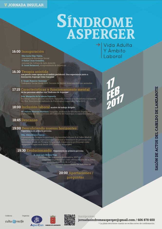Jornada insular sindrome de asperger febrero 2017