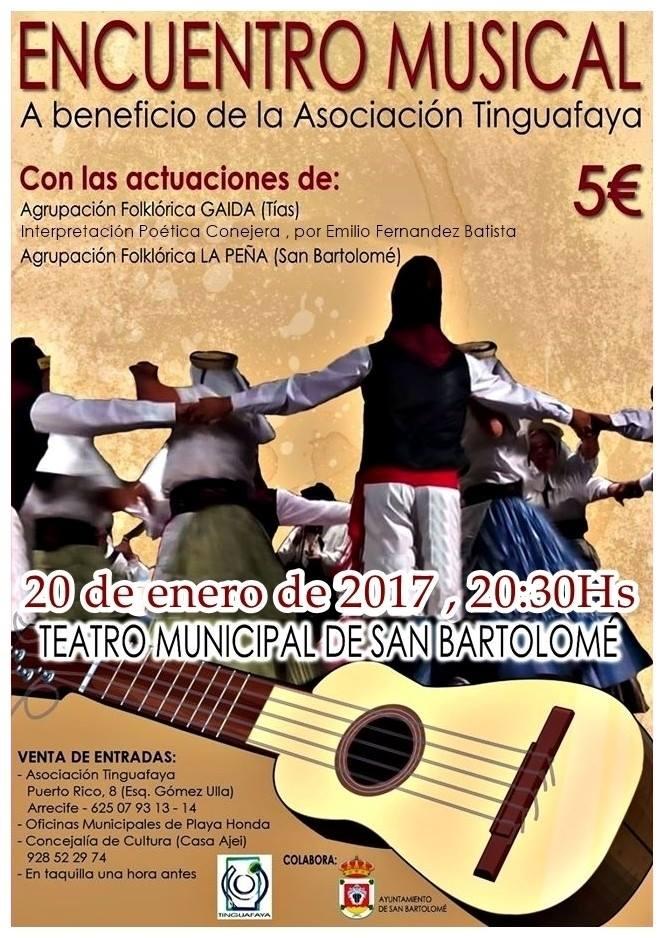 encuentro musical Tinguafaya San Bartolome enero 2017