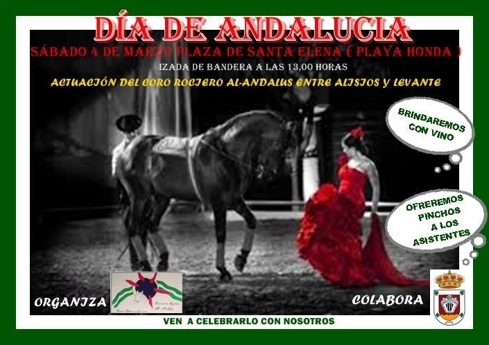 Celebracion Dia de Andalucia en Playa Honda marzo 2017