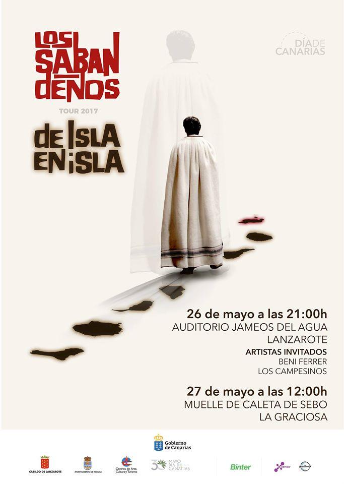 Conciertos Los Sabandenos Lanzarote mayo 2017