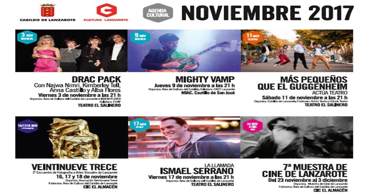 Agenda cultural del cabildo de lanzarote para el mes de noviembre 2017 - Mes noviembre 2017 ...
