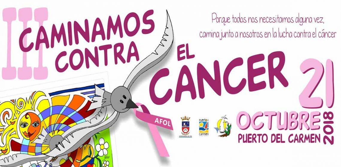 ad007312 III Caminata contra el cáncer se celebra el próximo 21 de octubre en Pto.  del Carmen organizada por el Ayto. de Tías y AFOL